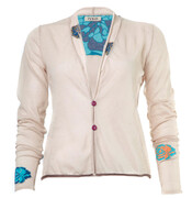 Ivko Strickjacket Intarsia. 51617, off-white