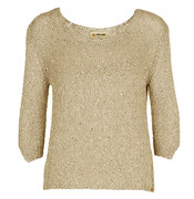 Rich u. Royal - Pullover taupe-gold 35q130
