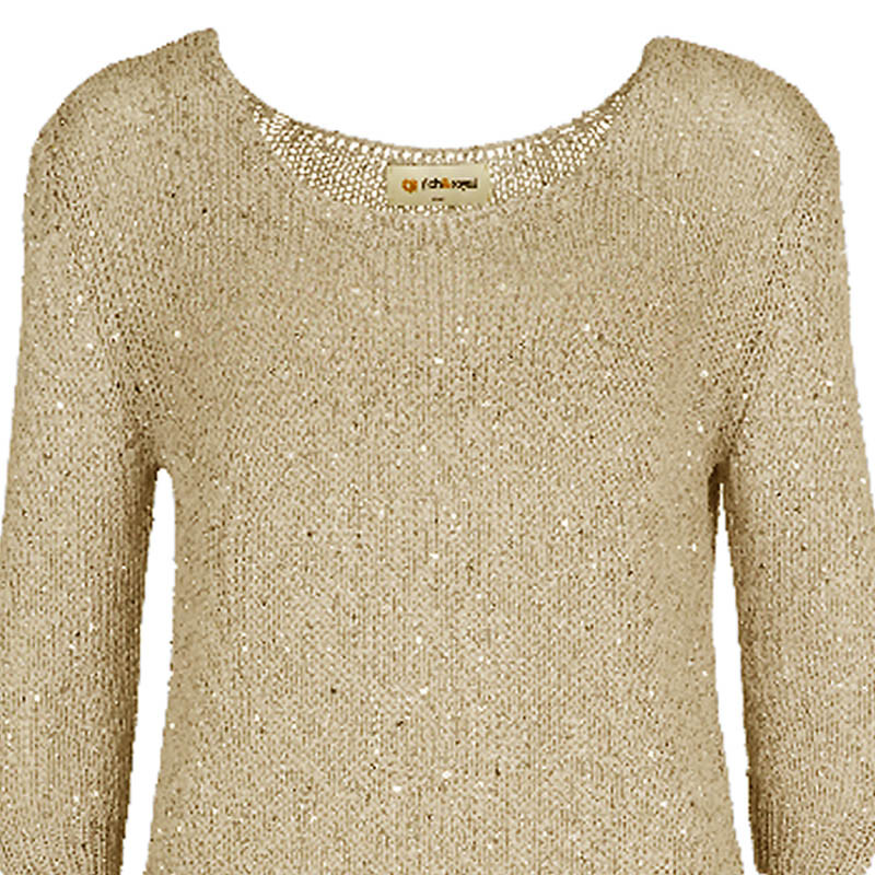 Rich u. Royal Pullover taupe gold 35q130 ab 79,95 €